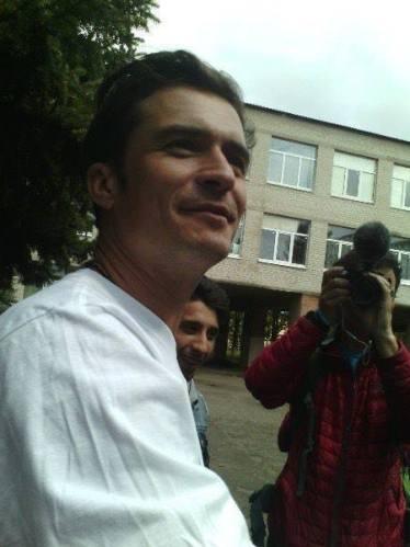 Голливудский актер Орландо Блум посетил Краматорск (ФОТО, ВИДЕО), фото-1