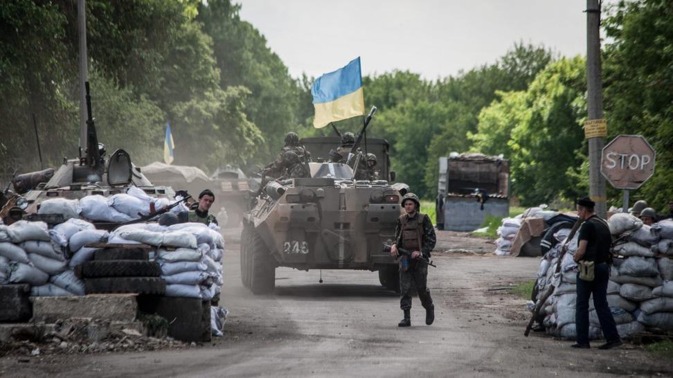 Штаб АТО: Боевики обстреляли Красногоровку изракетных систем залпового огня «Град»