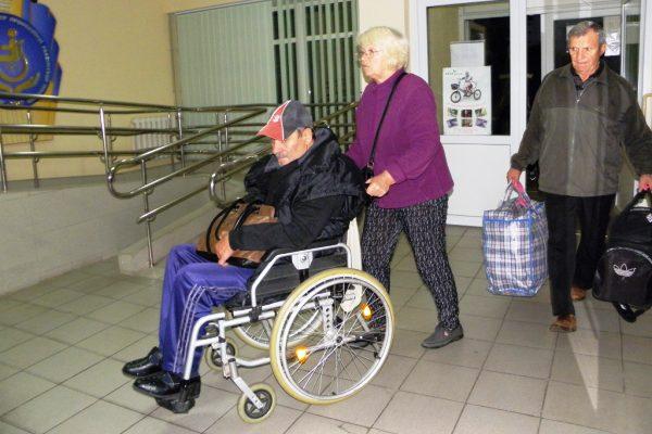Покинувшие пансионат «Куяльник» переселенцы синвалидностью приехали вСлавянск