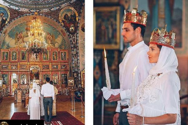 Беременная Галя Безрук обвенчалась. Фото: Instagram Артема Алексеева