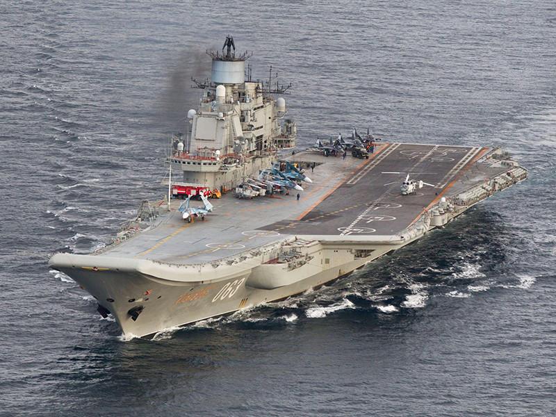 «Адмирал Кузнецов» начал участвовать в военных действиях вСирии