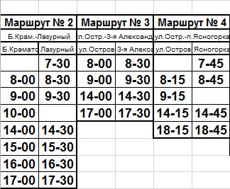 расписание1